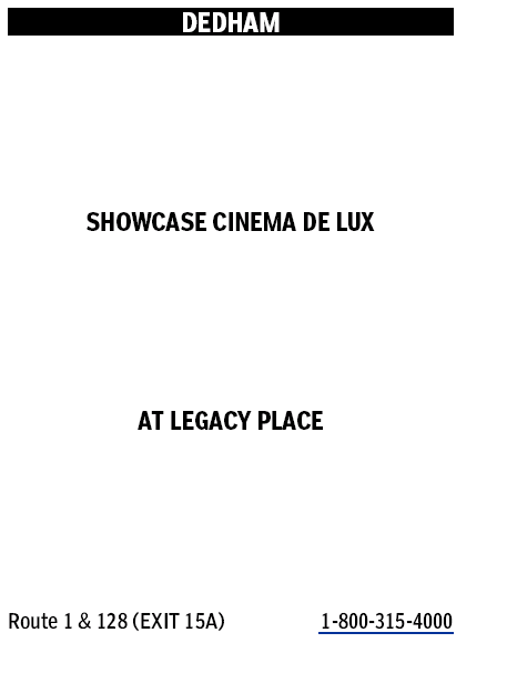 Showcase Cinema De Lux It S Good To Live In A Two Daily Town